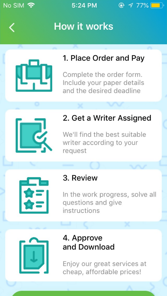 Intelligent Apps: The College Essay Writing App 1