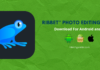 Ribbet Photo Editing App