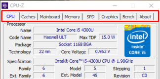 CPU Caches Mainboard Memory SPD Graphics Bench About