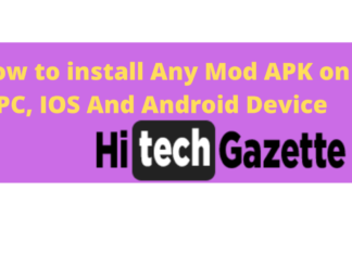 Install Mod APK on Android or IOS mobile