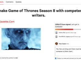 Remake GOT Season 8 Petition on Change.org