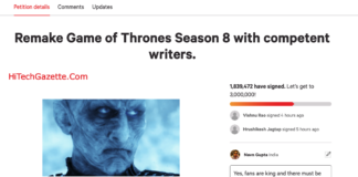 Remake GOT Season 8 Petition on Change.org