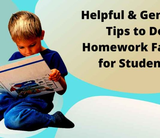 Tips to Do Homework Faster
