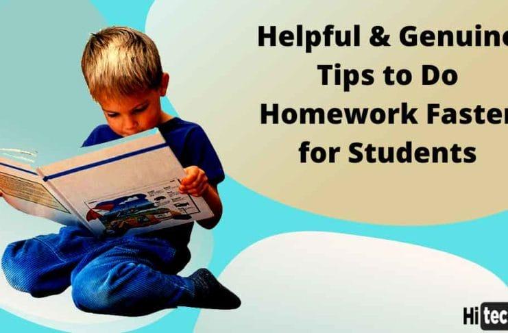 Tips to Do Homework Faster
