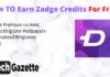Earn Zadge Credits