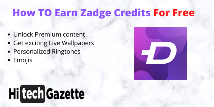 Earn Zadge Credits