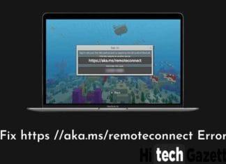 Minecraft aka.ms.remoteconnect error